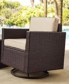 Palm Harbor 1 Piece Outdoor Wicker Conversation Set  Cushions Without Covers  Retail 838 99