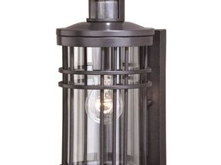 Wrightwood Black Motion Sensor Dusk to Dawn Outdoor Wall light  Retail 178 00