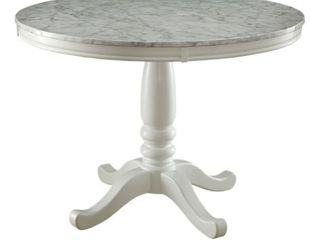 Incomplete  Furniture of America Ten Country White Table Base Only  Retail 474 52