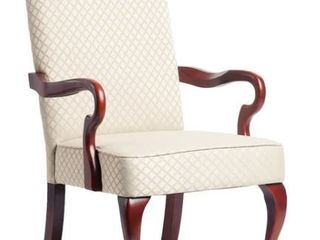 Copper Grove Casalis Cherry Finish Gooseneck Accent Chair   Retail 183 99