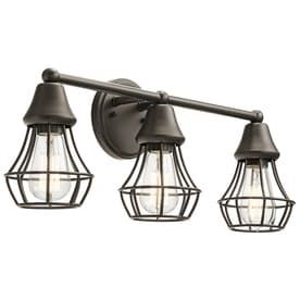 Kichler Bayley 3 light 23 01 in Olde Bronze Cage Vanity light