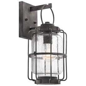 Kichler Montview 14 in H Weathered Zinc Medium Base  E 26  Outdoor Wall light