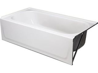 Briggs Enameled Steel Rectangular Alcove Bathtub with left Hand Drain  Common  60 in x 30 in  Actual  16 625 in x 60 in x 30 in