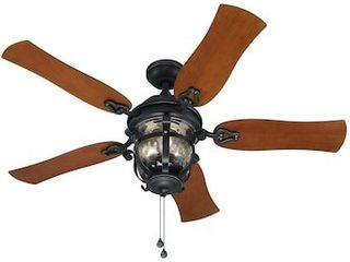 Harbor Breeze lake Placido 52 in Black Iron Incandescent Indoor Outdoor Ceiling Fan  5 Blade