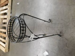 Allen   Roth 27 3 in Black Outdoor Round Steel Plant Stand