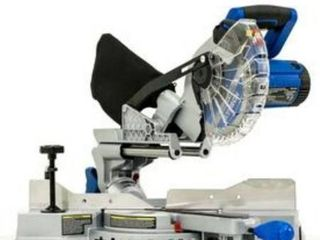 Kobalt Compact 7 1 4 in 10 Amp Single Bevel Sliding laser Compound Miter Saw