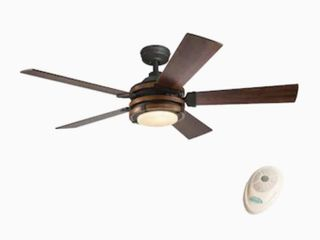 Kichler Barrington 52 in led Indoor Downrod Ceiling Fan W  light Kit And Remote