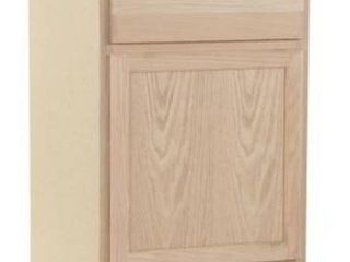 Kitchen Classics 35 in x 24 in x 23 75 in Unfinished Oak Door and Drawer Base Cabinet