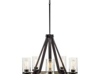 Kichler lighting Barrington 5 light Anvil Iron and Driftwood Plug In Standard Chandelier