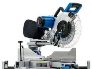 Kobalt 12 in 15 Amp Dual Bevel Sliding laser Compound Miter Saw Retail   329 99