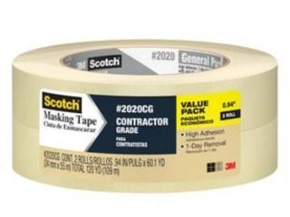10 Pack Scotch Tan 0 94 in W x 180 3 ft l Masking Tape