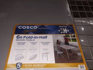 Cosco 6 ft  Fold in half Resin Table