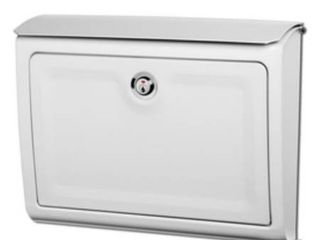 Architectural Mailboxes 14 in x 10 3 4 in Metal White lockable Wall Mount Mailbox