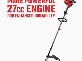 CRAFTSMAN WS230 27 cc 2 Cycle 17 in Straight Shaft Gas String Trimmer with Attachment Capable and Edger Capable Retail   179