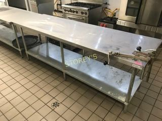 8  x 30 S S Work Table