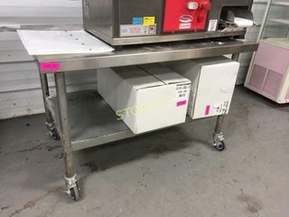 4  x 30  S S Equipment Stand on Wheels