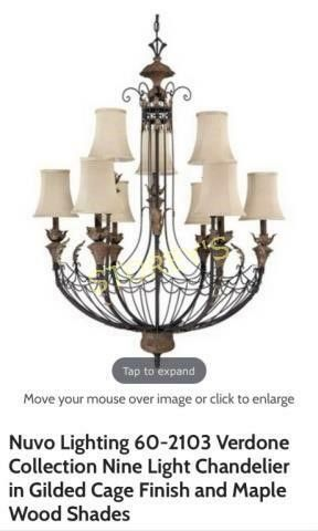 Nuvo 3 6 light Chandelier   New in Box