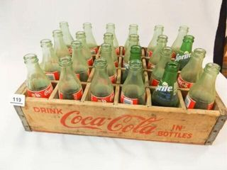 Coca Cola Wood Crate  Coke  Sprite Bottles