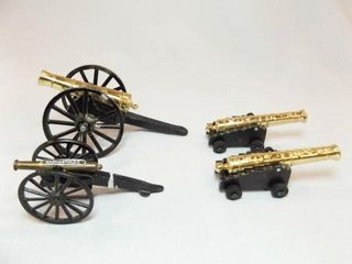 Metal Display Cannons  4  made in Japan