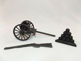 Cast Iron Wagon  Gun  also cannon balls