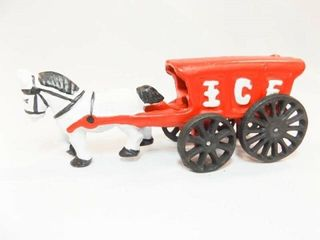 Cast Iron Ice Wagon  Horse  made in China