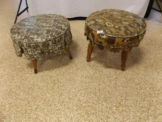 Footstool   Hassock  2  Vinyl Covered