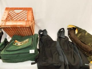 Three Jackets  Picnic Pack  Hiland Crate