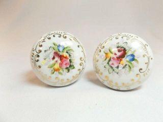 Porcelain Floral Door Handles  2