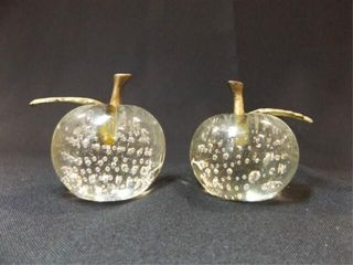 Apple Glass Paperweights  2