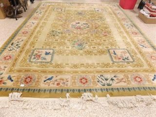 Woven Plush Floor Rug  Bird Design