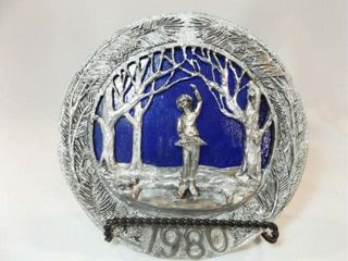 1980 Ricker Pewter Stained Glass Plate