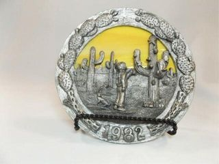 1982 Ricker Pewter Stained Glass Plate