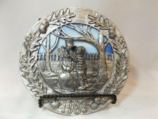 1983 Ricker Pewter Stained Glass Plate