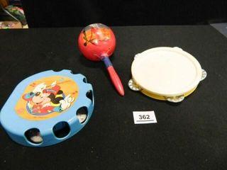 Toy Tambourines  2  Maracas 1