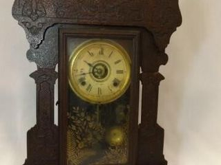 Seth Thomas Wood Clock  25  x 16  x 5