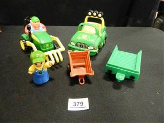 John Deere Plastic Toys  Tractor