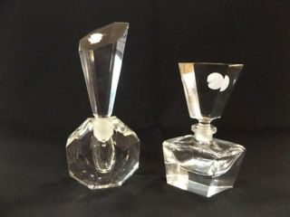 Perfume Bottles  likely Crystal  2