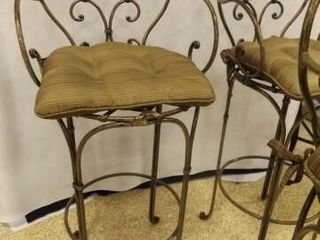Metal Bar Stools with Cushions  3