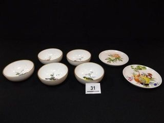 3  Bird Bowls  4  Plates  Kaiser  W  Germany