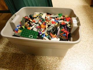 Tub of legos  Tub 18  x 23  x 12  h