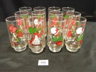 Holly Hobbie Christmas Glasses  12
