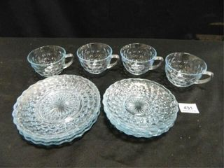 Sapphire Blue Bubble Glass Dishes