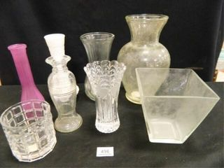 Glass Vase Assortment   8