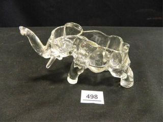 Elephant Glass Dish