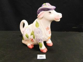 Cow Pitcher w Floral Design