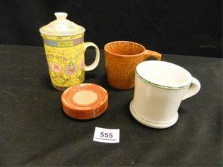 Tea Cup w Diffuser  Coasters 7