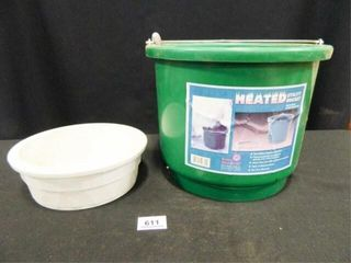 Heated Utility Bucket  2 gallon