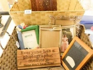 Baskets  2  Picture Frames  6