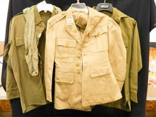 Military Clothing  Jacket  2 Shirts