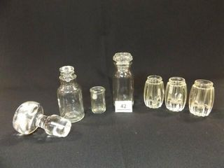 Clear Glass Stopper  Jars  7